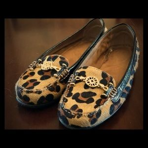 GORGEOUS LEOPARD PRINT CALF HAIR LOAFERS
